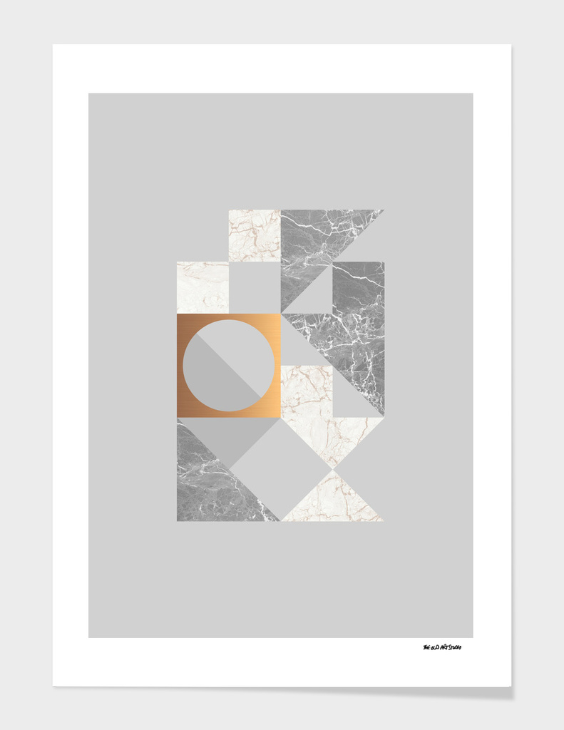 Marble Geometric Grey