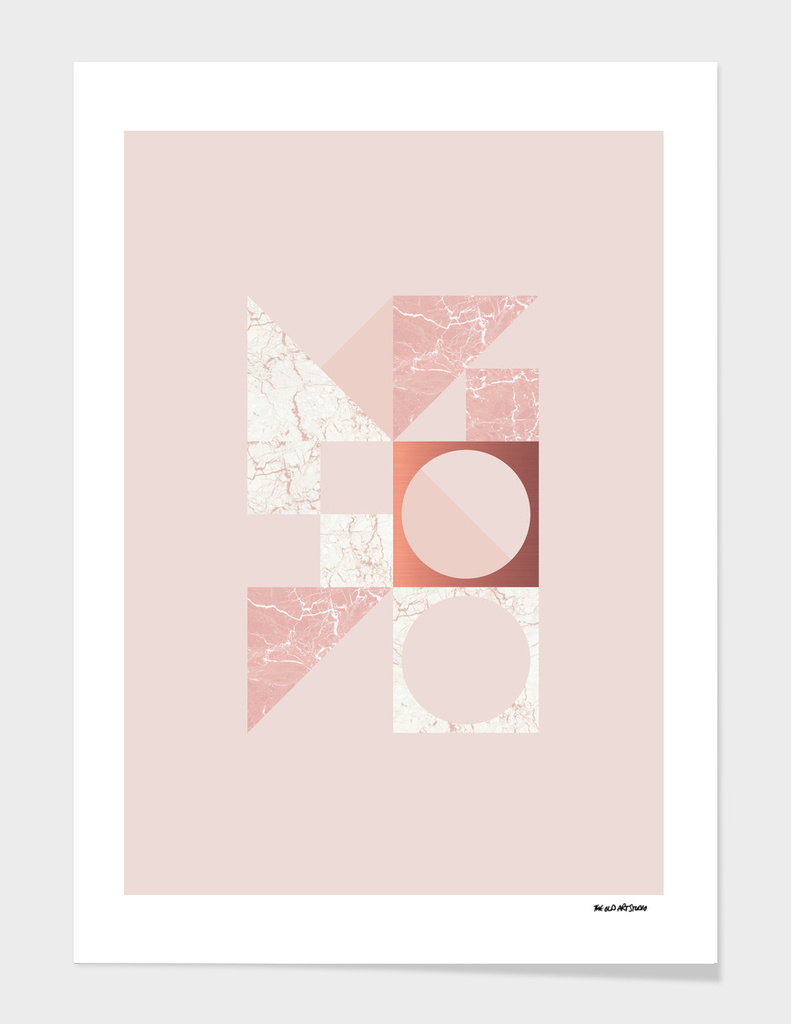 Marble Geometric Blush