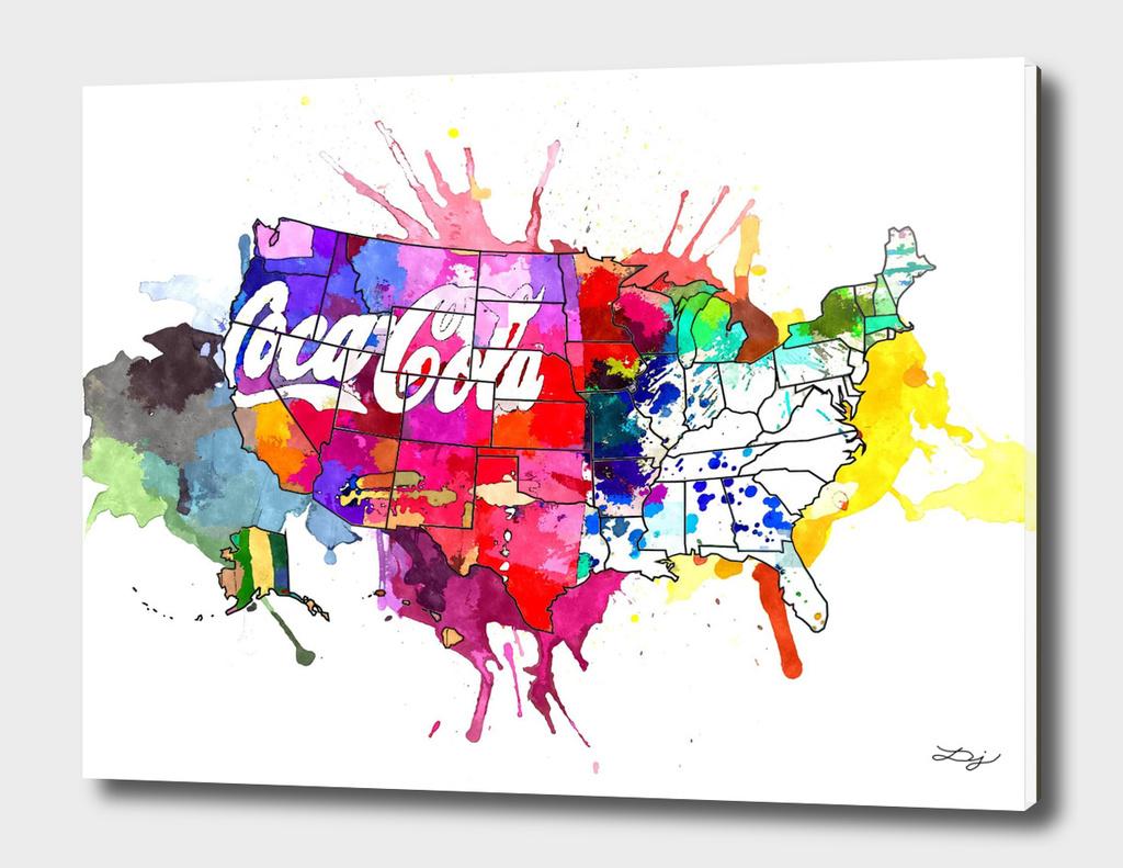 US Coke Map