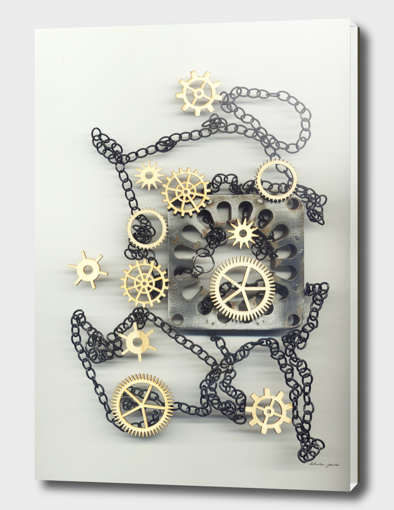 Still life with Gears and glands