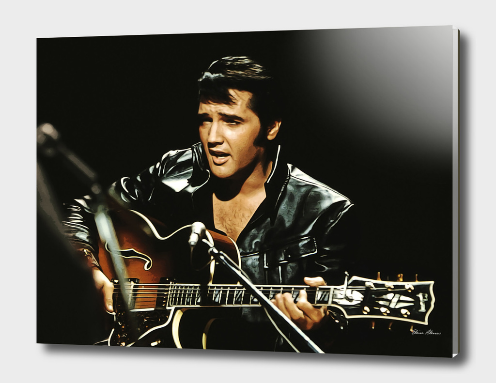 Black Leathers Elvis Presley