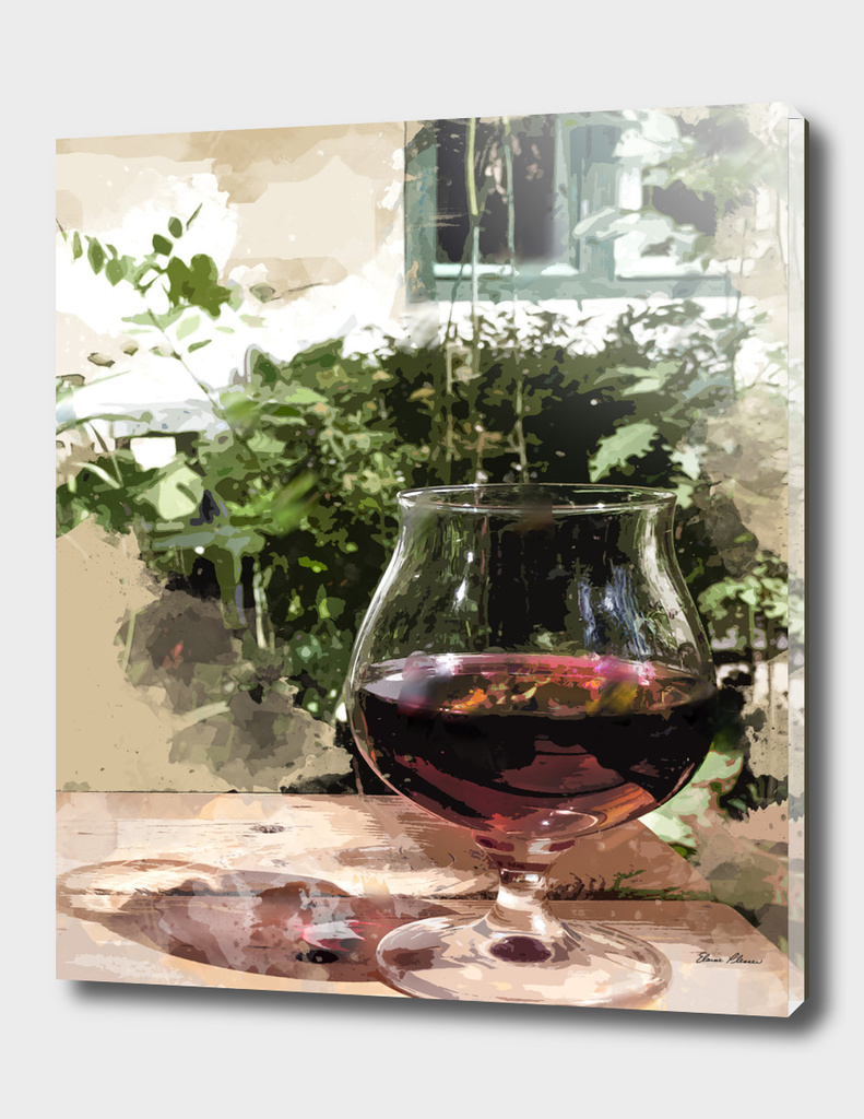 A Glass of Wine in the Summer Garden