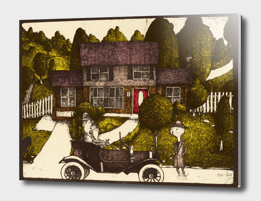 Deerwood Drive Limited Eggplant Edition Print by The Soogie