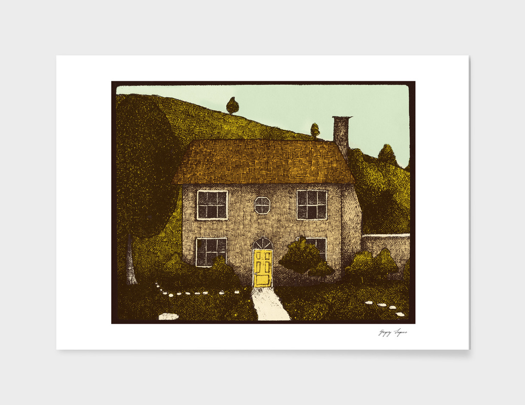 Cabbit House Limited Eggplant Edition Print By The Soogie