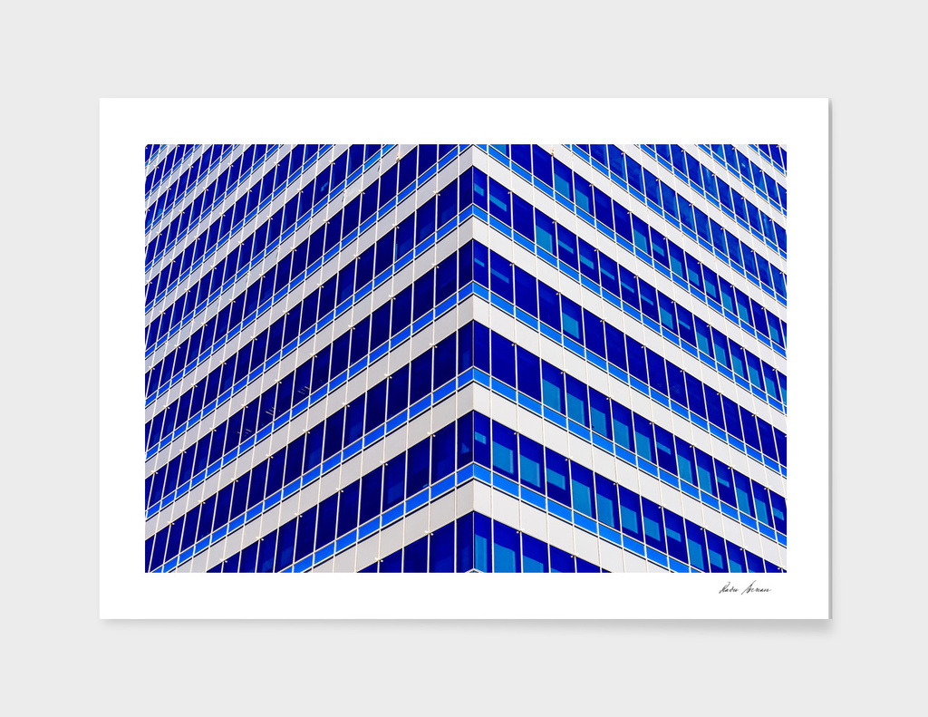 Modern Office Building Glass Architectural Detail