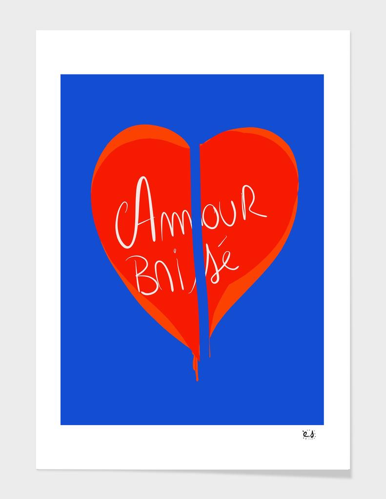 Coeur brisé Graphic Design  Minimal Conceptual Art