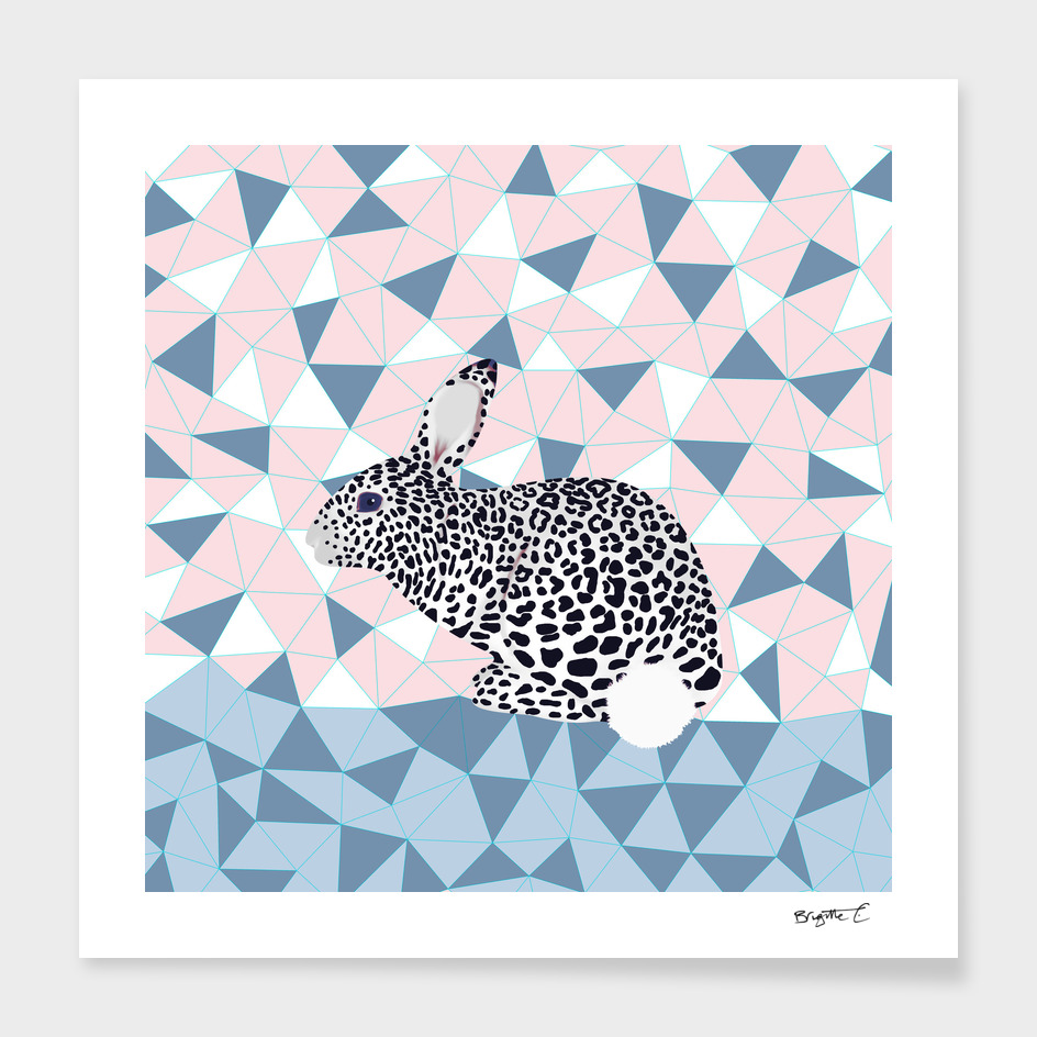 Cute Rabbit Leopard Pattern Design