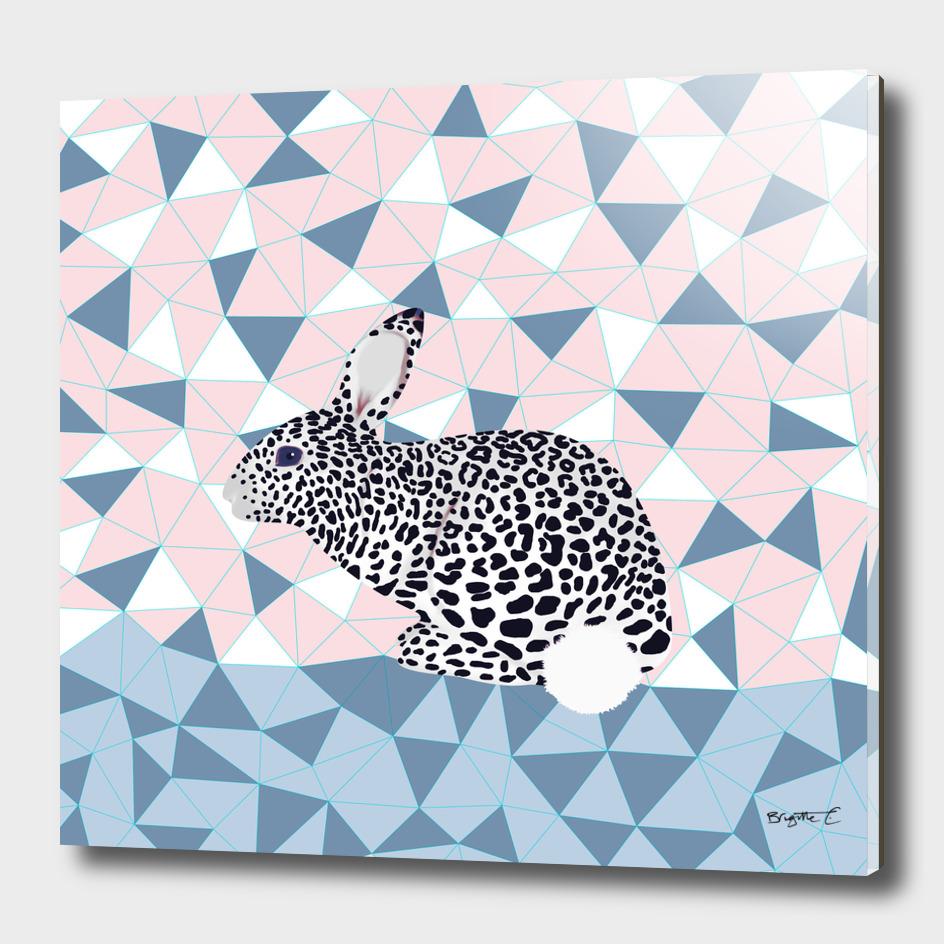 Cute Rabbit Leopard Pattern Design