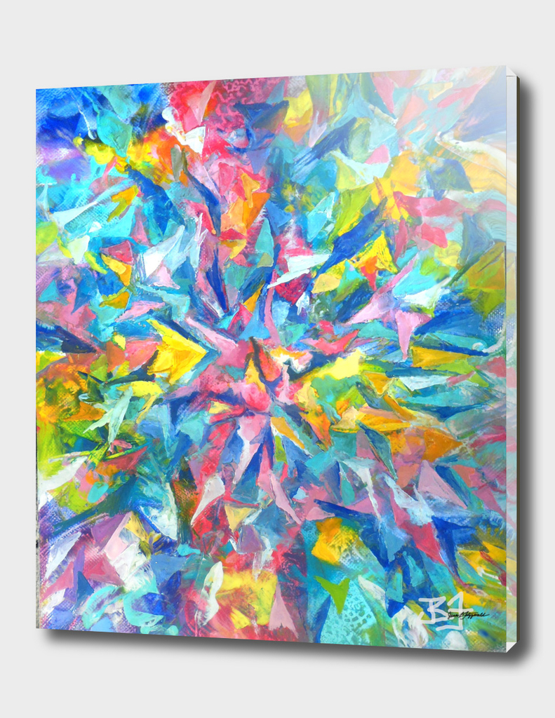 Colorful Abstract with Center Star