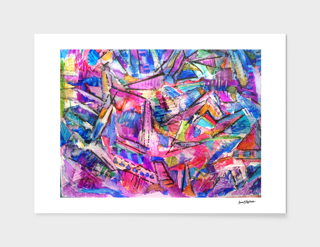 Colorful Abstract Zig & Zag