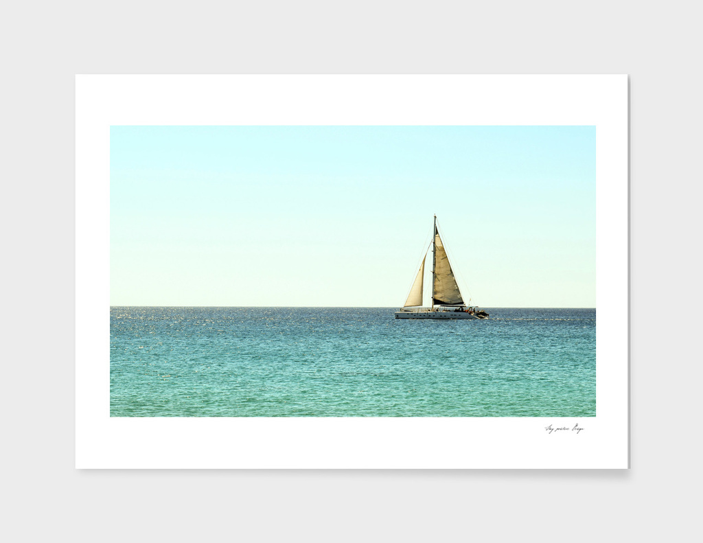 Sail Away with Me, Ocean, Sea , Blue Sky  and Summer Sun