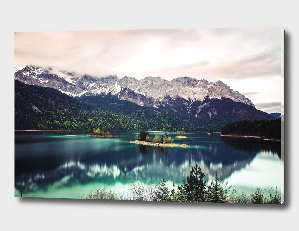 Blue Lake and Mountains - Eibsee, Germany
