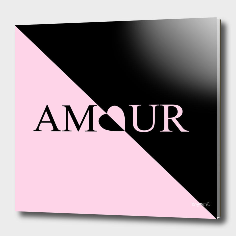Chic Amour Heart Pink and Black Design