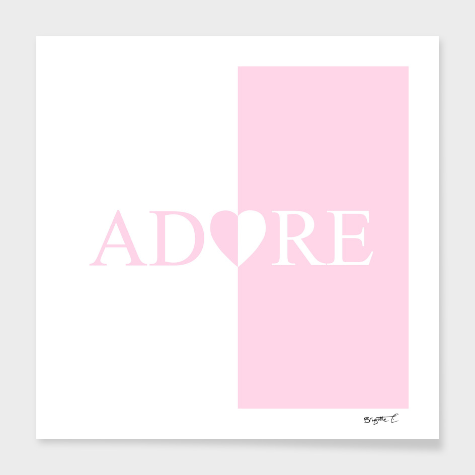 Chic ADORE Heart Pink and White Design