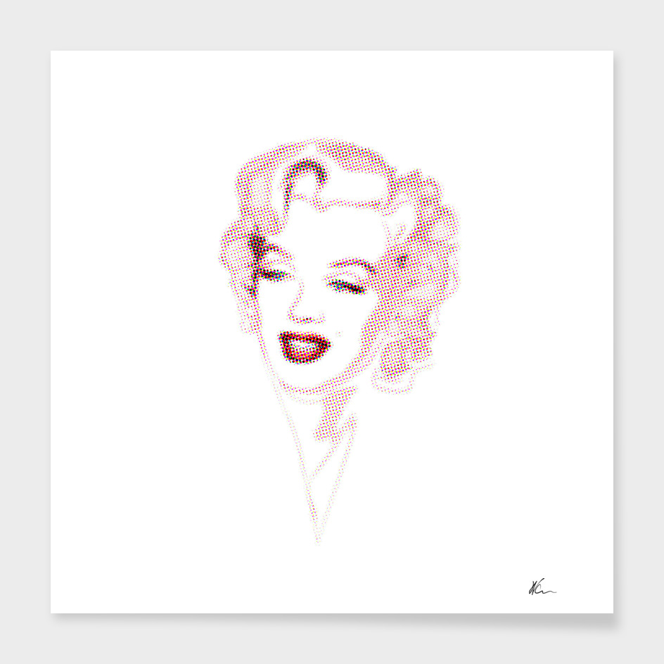 Marilyn Monroe | Halftone | Pop Art