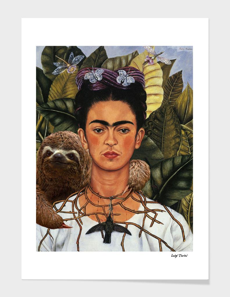 Frida Kahlo Self Portrait with a Sloth