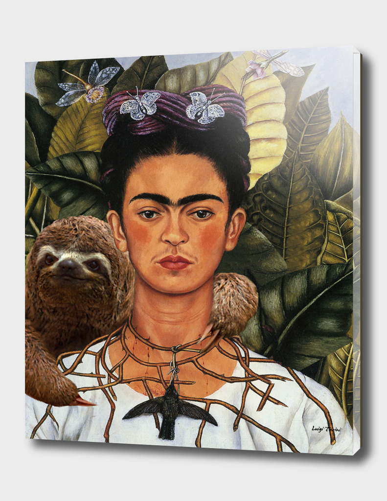 Frida Kahlo Self Portrait with a Sloth
