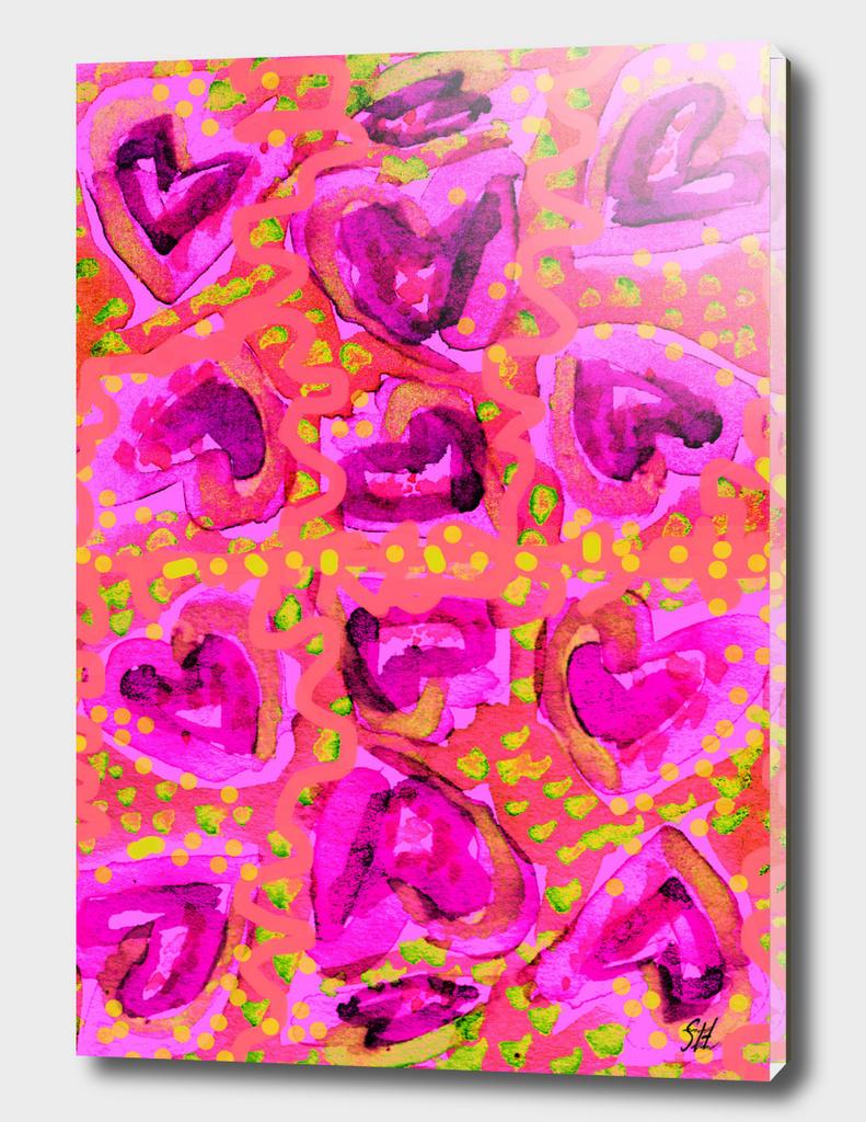 Cupcake Icing Hearts ~ Raspberry