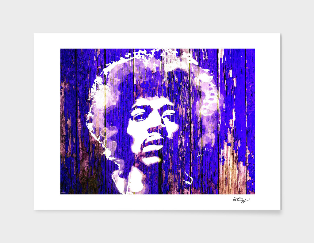 Jimi Hendrix Wooden