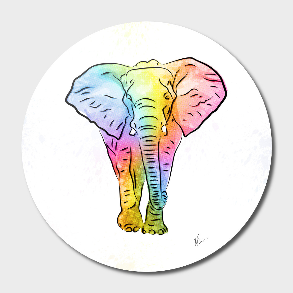 Elephant | Rainbow Series | Pop Art