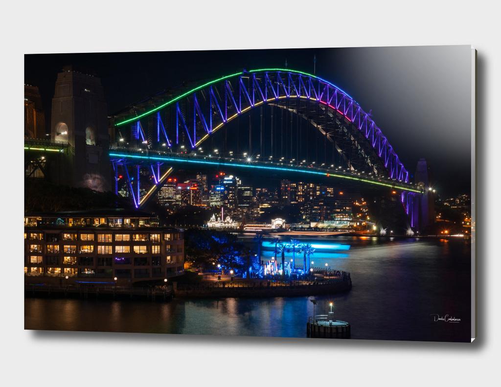 Sydney Harbour Bridge during Vivid Festival