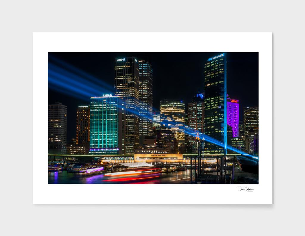 Vivid Sydney at Circular Quay