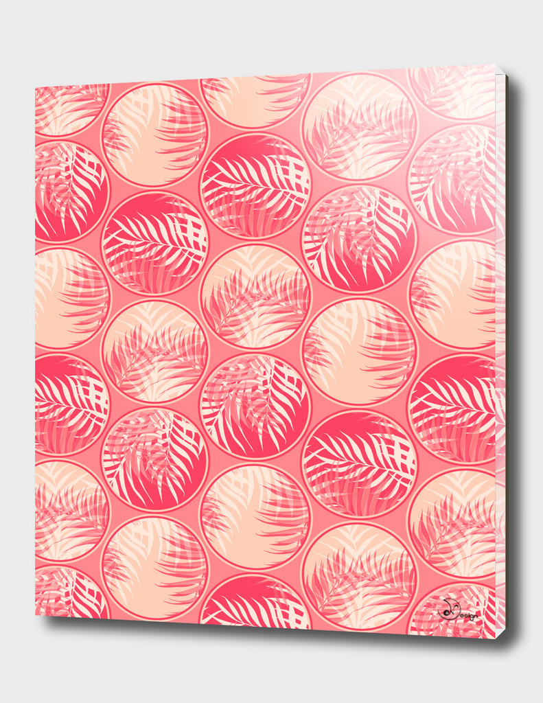 Pink Tropical Coins