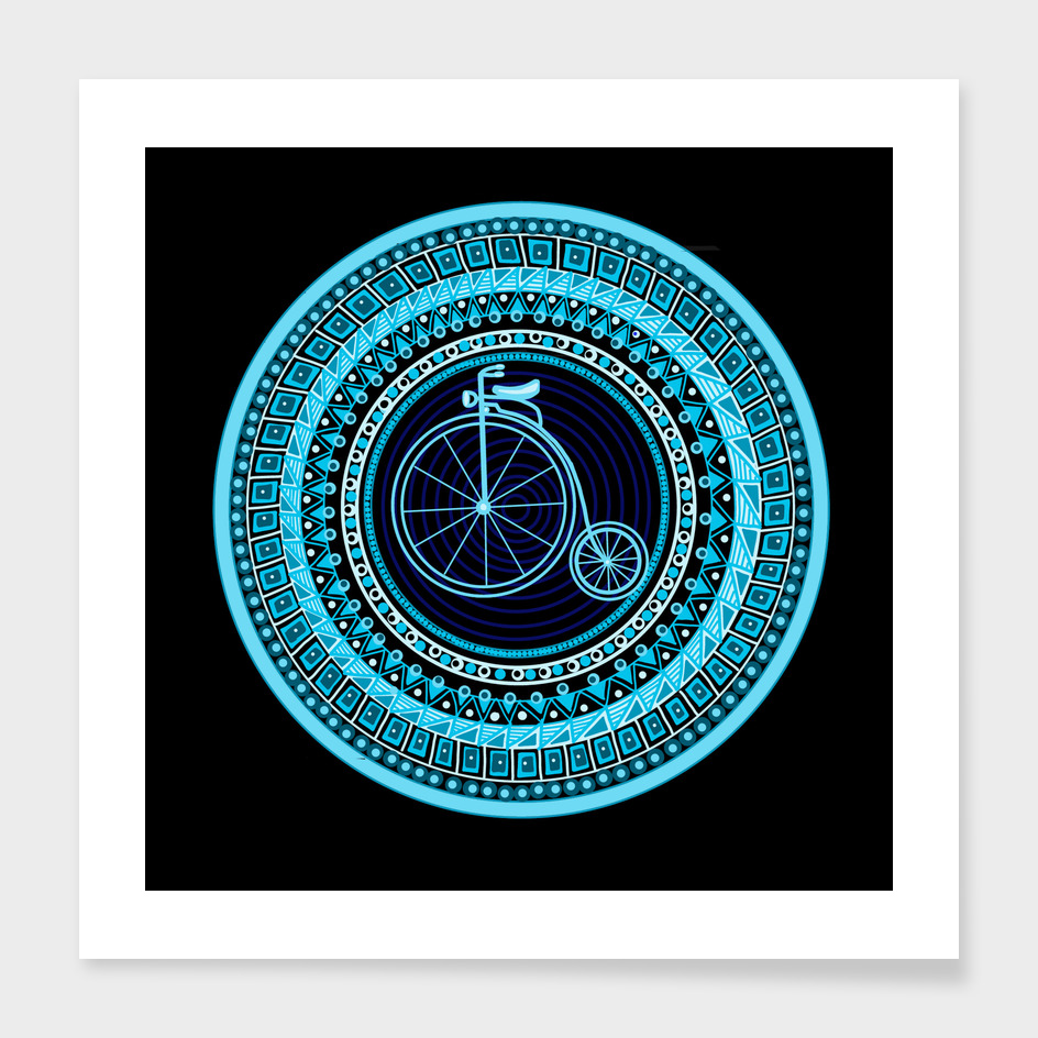 Vintage bicycle mandala