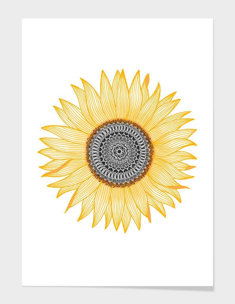 Golden Sunflower mandala
