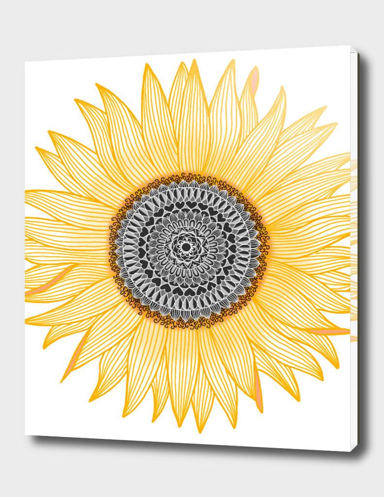 Golden Sunflower mandala