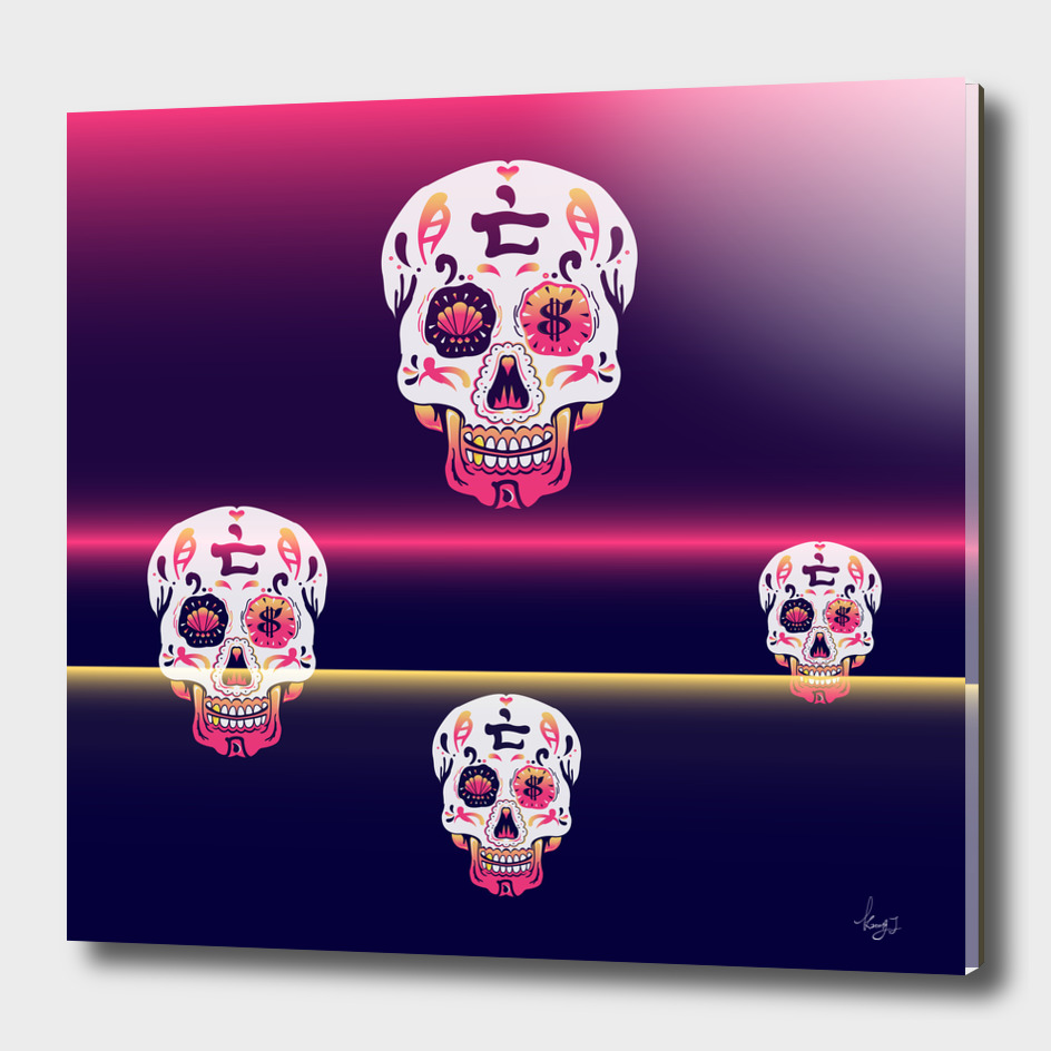 Colourful Skull
