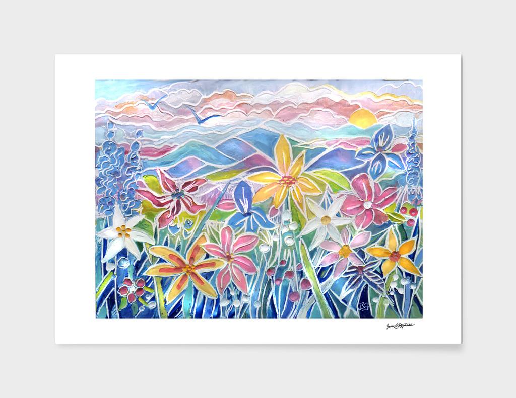 Pastel Garden Flowers