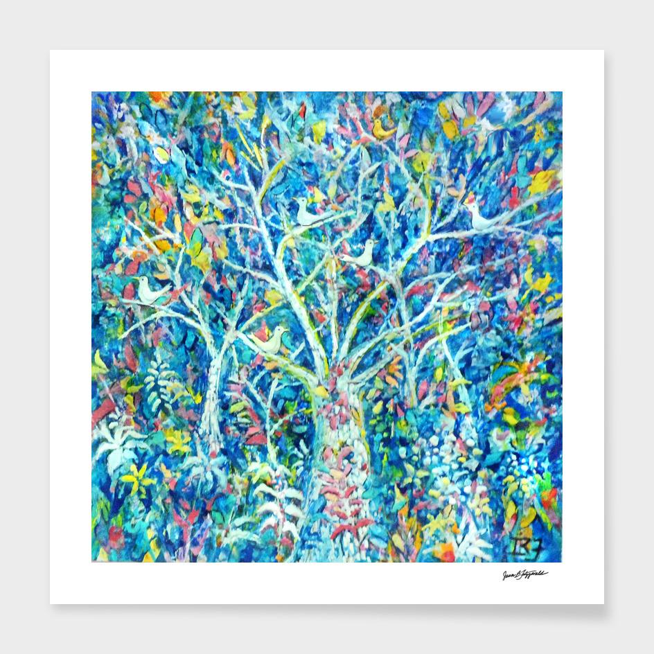 Doves in Trees