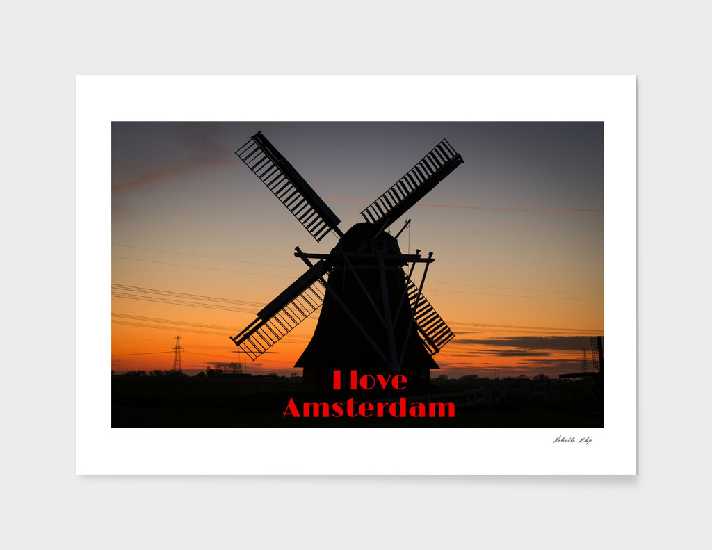 Amsterdam windmills Love