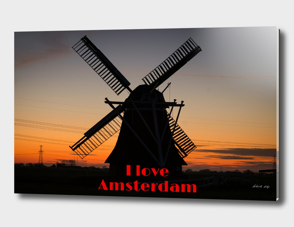 Amsterdam windmills Love