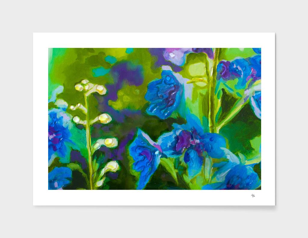 fleurs bleu
