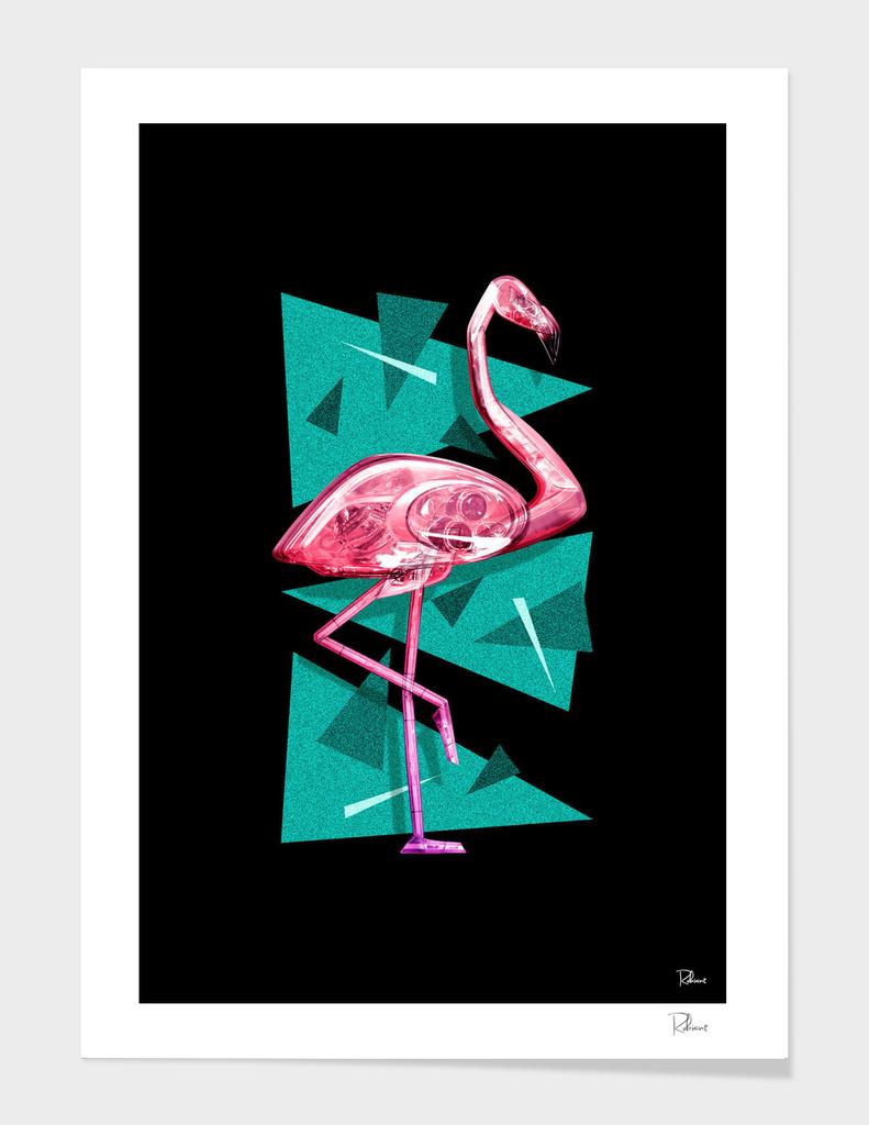 PINK FLAMINGO MIAMI FOND NOIR VERSION 2017