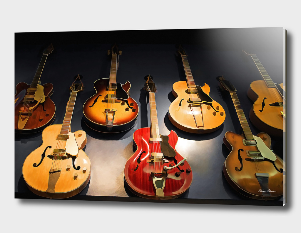 Seven Vintage Guitars in a Row