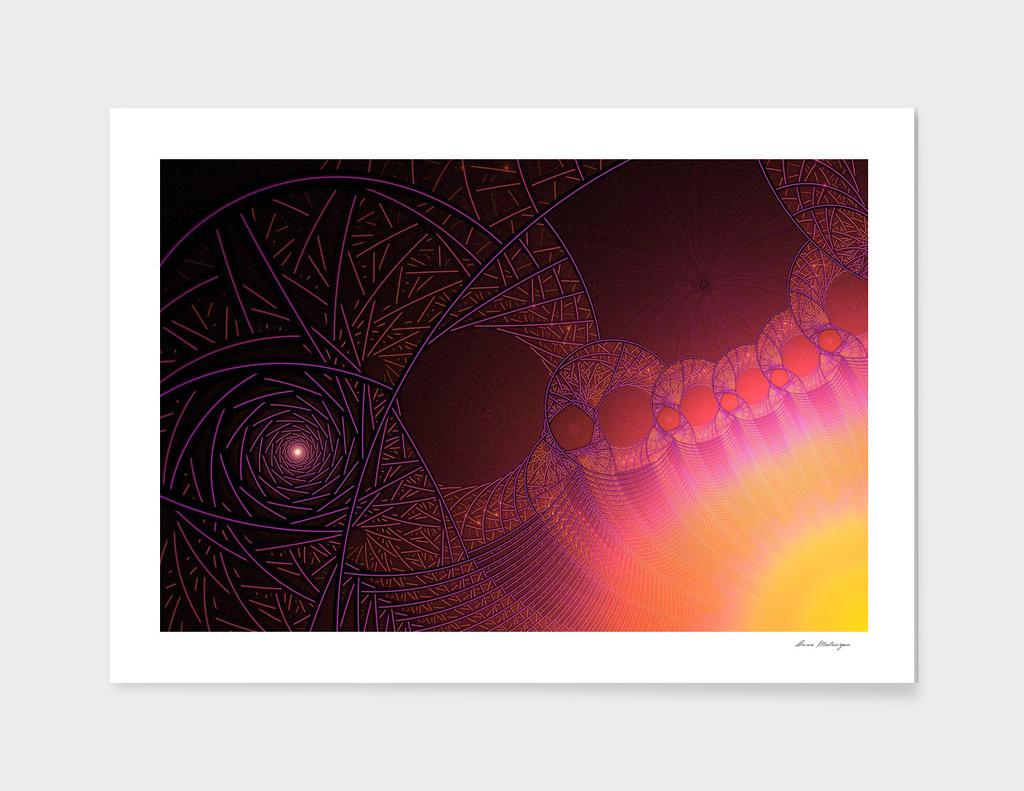 Psychedelic sun fractal