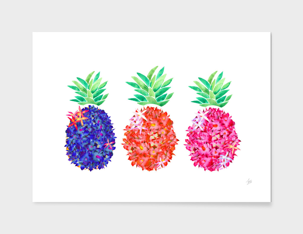 Floral Pineapples