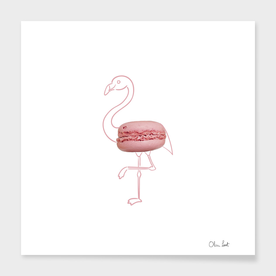 Macaron flamingo