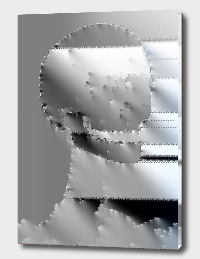 Scull glitch foil