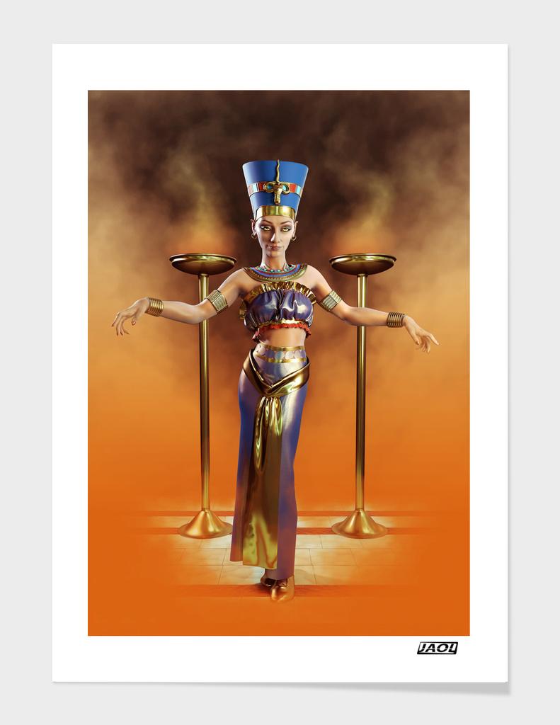 Queen Nefertiti full body