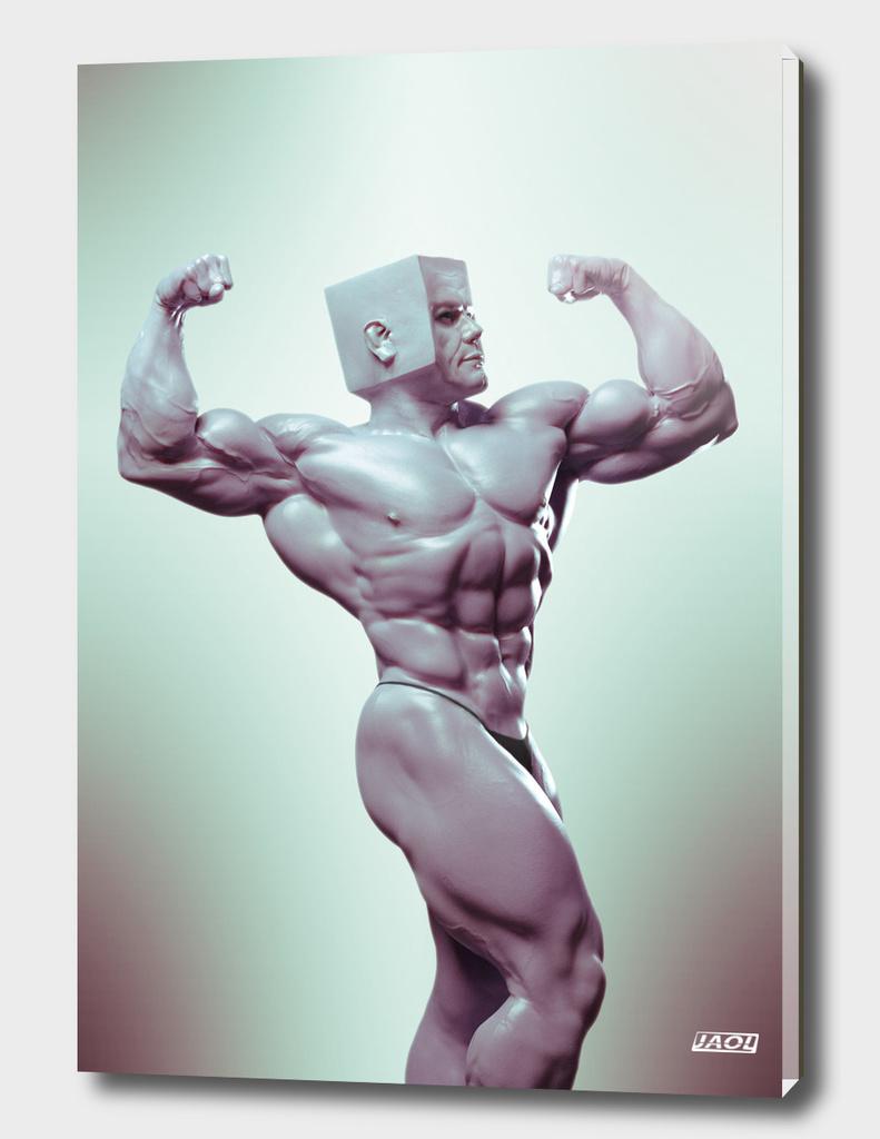 Bodybuilder CubeHead I