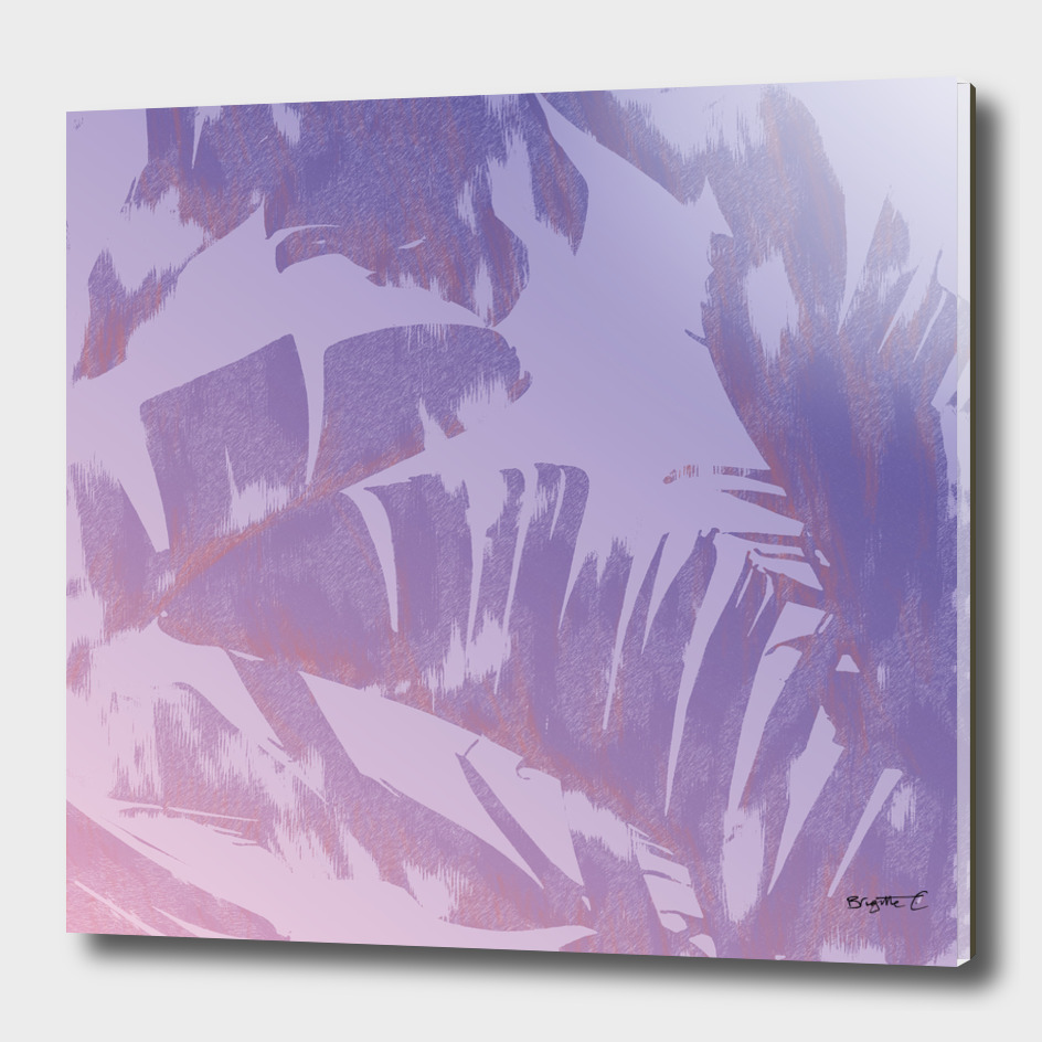 Tropical Sunset Banana Leaves Design