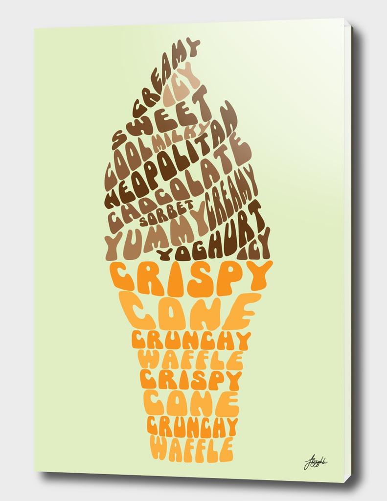 Ice Cream Typography