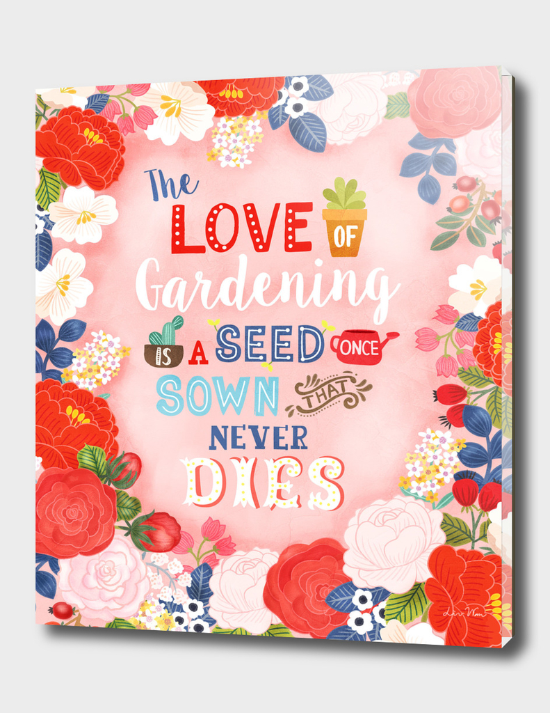 Rose Garden Hand Lettering Quotes