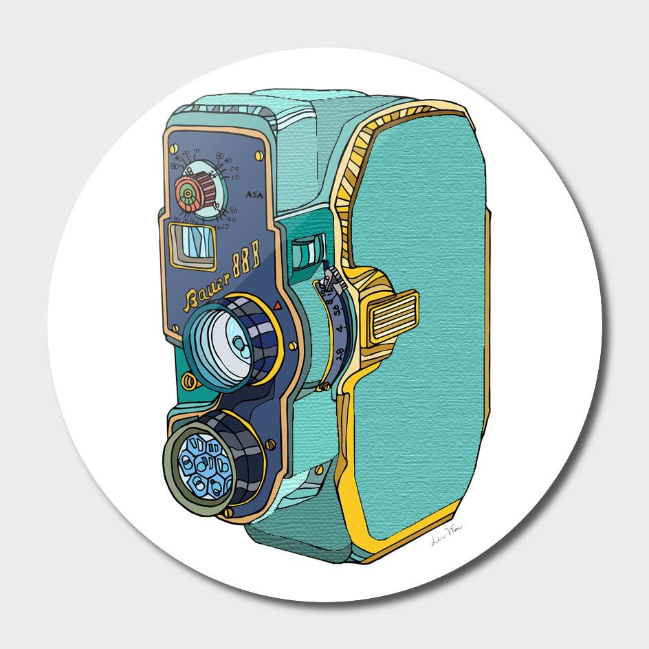 Bauer-88B Vintage Camera Illustration