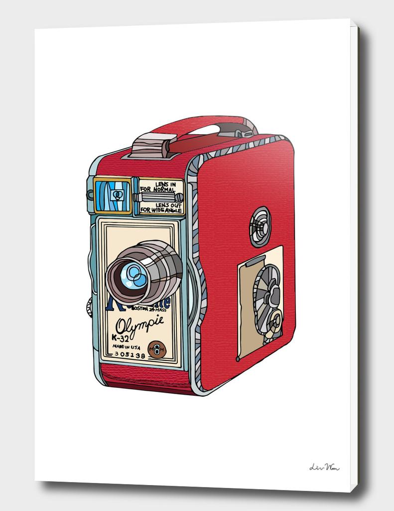 Olympic-Keystone Retro Camera Illustration