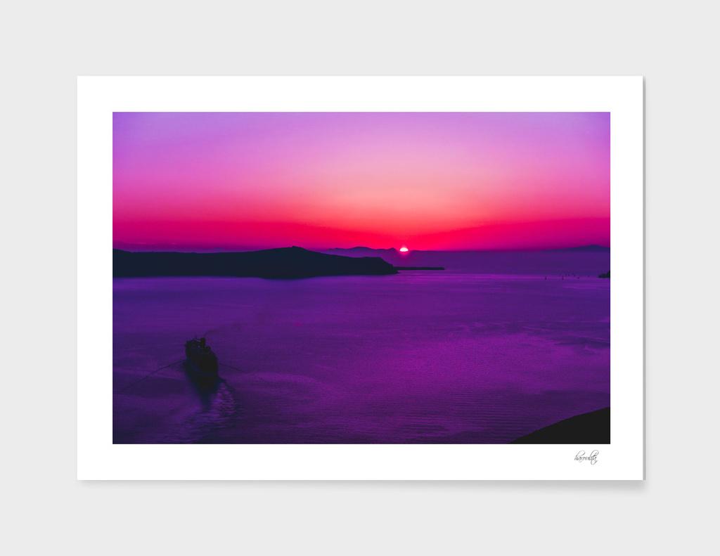 Purple Sunset in Oia